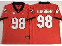 Mens Ncaa Nfl Georgia Bulldogs #98 Rodrigo Blankenship Red Vapor Untouchable Limited Jersey