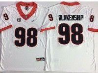 Mens Ncaa Nfl Georgia Bulldogs #98 Rodrigo Blankenship White Vapor Untouchable Limited Jersey