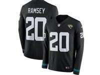 Mens Nfl Jacksonville Jaguars #20 Jalen Ramsey Black Nike Therma Long Sleeve Jersey