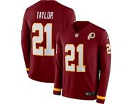 Mens Nfl Washington Redskins #21 Sean Taylor Red Nike Therma Long Sleeve Jersey
