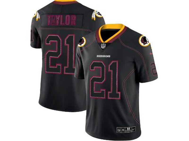 Mens Nfl Washington Redskins #21 Sean Taylor 2018 Lights Out Black Vapor Untouchable Limited Jersey