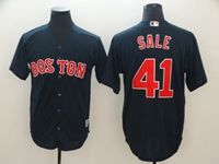 Mens Mlb Boston Red Sox #41 Chris Sale Dark Blue Cool Base Jersey