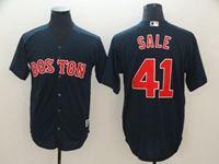 Mens Mlb Boston Red Sox #41 Chris Sale Dark Blue Cool Base Jersey