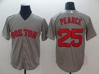 Mens Mlb Boston Red Sox #25 Steve Pearce Gray Cool Base Jersey
