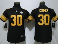 Womens Youth Nfl Pittsburgh Steelers #30 James Conner Black Vapor Untouchable Color Rush Limited Player Jersey