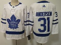 Youth Women Nhl Toronto Maple Leafs #31 Frederik Andersen White Hockey Adidas Jersey