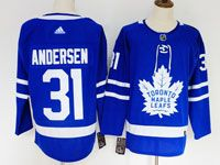 Youth Women Nhl Toronto Maple Leafs #31 Frederik Andersen Blue Hockey Adidas Jersey