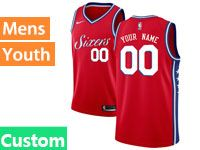 Mens Youth Philadelphia 76ers Nike Custom Made Red Swingman Jersey