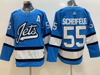 Mens Nhl Winnipeg Jets #55 Mark Scheifele Light Blue Adidas Jersey