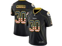 Mens Nfl Pittsburgh Steelers #30 James Conner 2018 Usa Flag Fashion Black Vapor Untouchable Limited Jersey