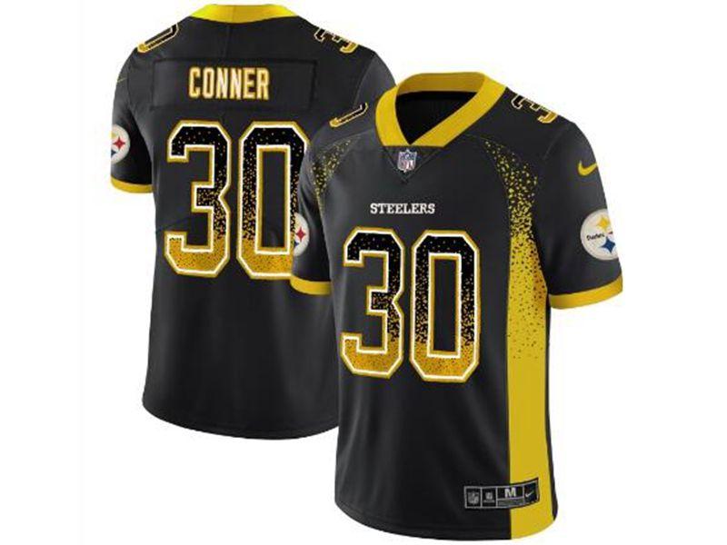 Mens Nfl Pittsburgh Steelers #30 James Conner Black 2018 Drift Fashion Vapor Untouchable Limited Jersey