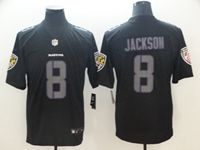 Mens Nfl Baltimore Ravens #8 Lamar Jackson 2018 Fashion Impact Black Vapor Untouchable Limited Jersey