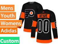 Mens Philadelphia Flyers Custom Made Black Alternate Adidas Jersey