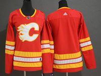 Women Youth Adidas Nhl Calgary Flames Blank Alternate Red Jersey