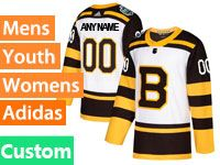 Mens Women Youth Nhl Boston Bruins Custom Made 2019 Winter Classic Black Home Adidas Jersey