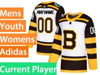 Mens Women Youth Nhl Boston Bruins Custom Made 2019 Winter Classic White Current Player Jersey