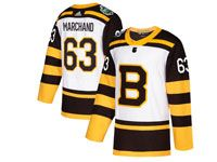 Mens Nhl Boston Bruins #63 Brad Marchand 2019 Winter Classic Black Home Adidas Jersey