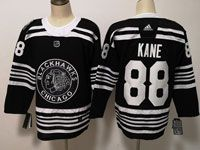 Mens Nhl Chicago Blackhawks #88 Patrick Kane  2019 Winter Classic  Black Adidas Jersey
