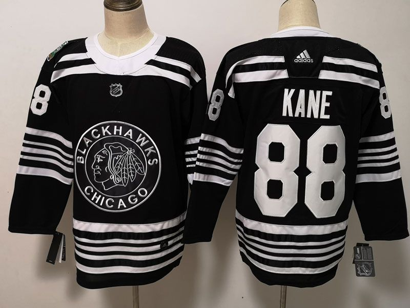 Mens Nhl Chicago Blackhawks #88 Patrick Kane  2019 Winter Classic  Black Adidas Jersey