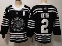 Mens Nhl Chicago Blackhawks #2 Duncan Keith 2019 Winter Classic Black Adidas Jersey
