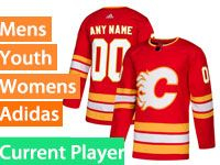 Mens Adidas Calgary Flames Red Alternate Current Player Jersey