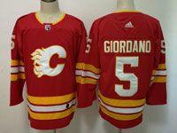 Mens Adidas Nhl Calgary Flames #5 Mark Giordano Red Alternate Jersey