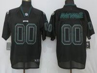 Mens Nfl Philadelphia Eagles Custom Made Black Lights Out Elite Nike Jersey