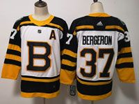 Mens Nhl Boston Bruins #37 Patrice Bergeron 2019 Winter Classic Black Home Adidas Jersey