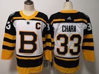 Mens Nhl Boston Bruins #33 Zdeno Chara 2019 Winter Classic Black Home Adidas Jersey