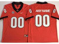 Mens Ncaa Nfl Georgia Bulldogs Custom Made Red Vapor Untouchable Limited Jersey
