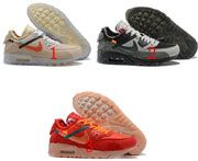 Mens Nike Off White Air Max 90 Ow Running Shoes 3 Color