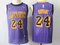 Mens 2018-19 Nba Los Angeles Lakers #24 Kobe Bryant Purple Nike City Edition Jersey