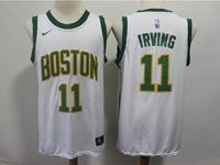 Mens 2018-19 Nba Boston Celtics #11 Kyrie Irving White Nike City Edition Jersey