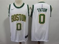 Mens 2018-19 Nba Boston Celtics #0 Jayson Tatum White Nike City Edition Jersey