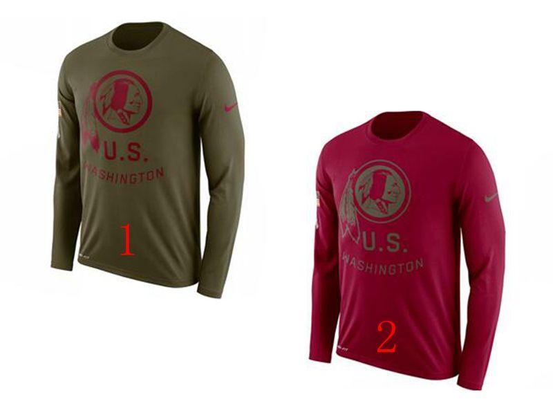 Mens Nfl Washington Redskins Salute To Service Sideline Legend Performance Long Sleeve T-shirt 2 Colors
