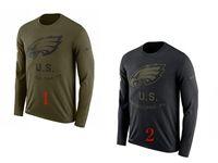 Mens Nfl Philadelphia Eagles Salute To Service Sideline Legend Performance Long Sleeve T-shirt 2 Colors