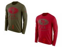 Mens Nfl San Francisco 49ers Salute To Service Sideline Legend Performance Long Sleeve T-shirt 2 Colors