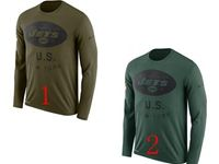 Mens Nfl New York Jets Salute To Service Sideline Legend Performance Long Sleeve T-shirt 2 Colors