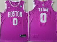 Mens Nba Boston Celtics #0 Jayson Tatum Rose Swingman Nike Jersey