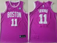 Mens Nba Boston Celtics #11 Kyrie Irving Rose Swingman Nike Jersey