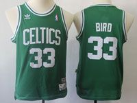 Youth Nba Boston Celtics #33 Bird Green Adidas Hardwood Classics Swingman Jersey