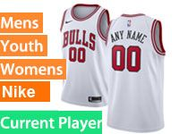 Mens Youth Nba Chicago Bulls 2018-19 Current Player White Swingman Nike Jersey