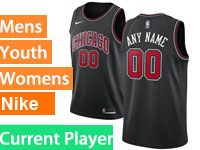 Mens Youth Nba Chicago Bulls 2018-19 Current Player Black Swingman Nike Jersey