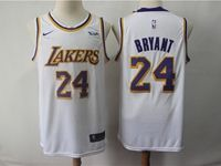 Mens 2018-19 Nba Los Angeles Lakers #24 Kobe Bryant White Nike Swingman Jersey