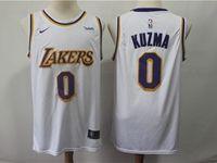 Mens 2018-19 Nba Los Angeles Lakers #0 Kyle Kuzma White Nike Swingman Jersey