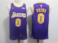 Mens 2018-19 Nba Los Angeles Lakers #0 Kyle Kuzma Purple Nike Swingman Jersey