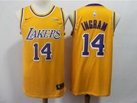 Mens 2018-19 Nba Los Angeles Lakers #14 Brandon Ingram Yellow Nike Swingman Jersey