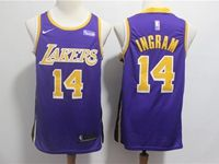 Mens 2018-19 Nba Los Angeles Lakers #14 Brandon Ingram Purple Nike Swingman Jersey