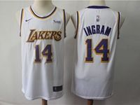 Mens 2018-19 Nba Los Angeles Lakers #14 Brandon Ingram White Nike Swingman Jersey