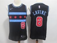 Mens 2018-19 Nba Chicago Bulls #8 Zach Lavine Black Nike City Edition Jersey